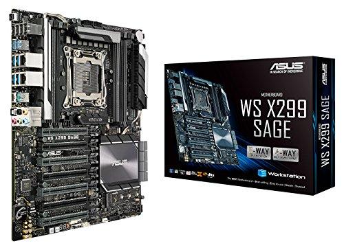 Asus WS X299 SAGE Workstation Mainboard Sockel 2066 (SSI CEB, Intel X299, Skylake, 8x DDR4-Speicher, 7x PCIe 3.0/2.0 x16, 2x U.2 und 2x M.2 Schnittstelle)