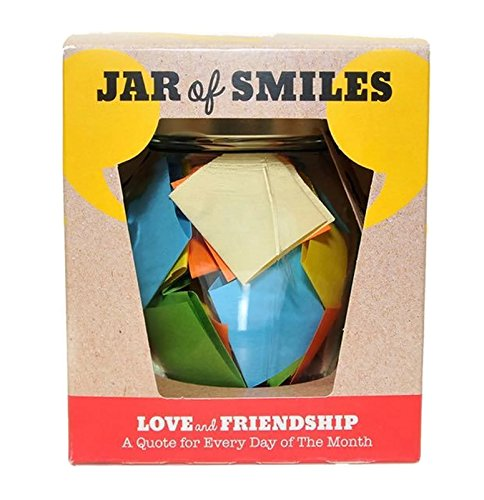 Smiles by Julie - Love and Friendship Quotations in a Jar. Thoughtful, Happy and Amusing Quotes for every day of the month. Be The Reason Your Friend Smiles Today. Comes in its own Gift Box.
