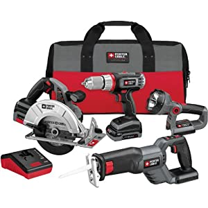 Porter-Cable PCL418C-2 18-Volt Lithium-Ion Cordless 4-Piece Combo Kit by Porter-Cable