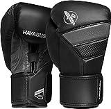 Hayabusa T3 – Guantes de boxeo originales de 296ml y 355ml, 10oz, Negro/Gris