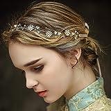 Vintage Braut Haar Kamm Rebe Stirnbänder Strass Haarschmuck Haarspangen Perlen Blumen Hochzeit Haarteile Crystal Strass Perlen Hochzeit Haarschmuck Brauthochzeits-Stirnband...