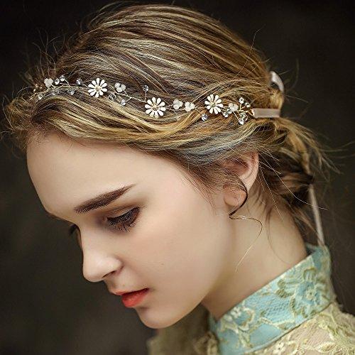 Vintage Braut Haar Kamm Rebe Stirnbänder Strass Haarschmuck Haarspangen Perlen Blumen Hochzeit Haarteile Crystal Strass Perlen Hochzeit Haarschmuck Brauthochzeits-Stirnband Haarband
