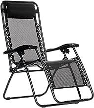 Amazon Basics Outdoor Zero Gravity Lounge Folding Chair, Black