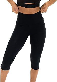 """Spalding womens Activewear Cotton Spandex 17"""" Inseam Capri Leggings Leggings"""