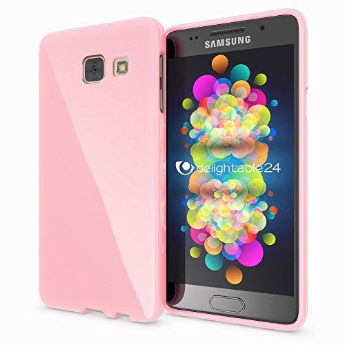 NALIA Custodia compatibile con Samsung Galaxy A5 2016, Cover Protezione Ultra-Slim Case Protettiva Morbido Cellulare in Silicone Gel, Gomma Jelly Smartphone Telefono Bumper Sottile - Rosa