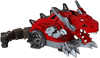 Dazmers Robot Dragon Toy - 14 Inch Electronic Dragon Roars, Shakes Its Head, Breathes Fiery Mist, Plays Music, Lights Up - Battery Operated Action Figure with Bump and Go Action Moves on Its Own