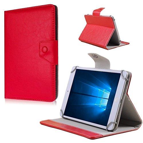 UC-Express Tablet Tasche Schutz Hülle für Medion E6912 Hülle Cover Schutzhülle Bag NAUCI, Farben:Rot