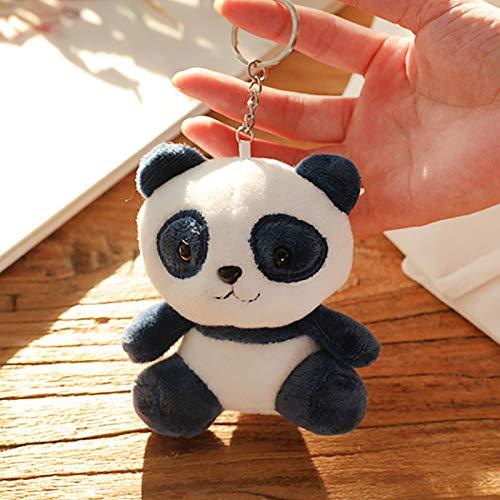 TOSSPER 1pc Felpa Llaveros Panda Animal Relleno De La Felpa Muñecas Llavero Regalo del Anillo Colgante De Felpa Juguetes para Niños 10cm