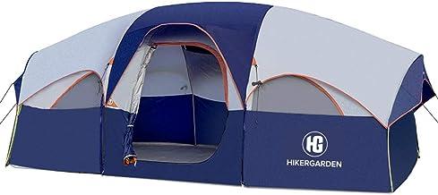 HIKERGARDEN Tent 8 Person Camping Tents, Waterproof...