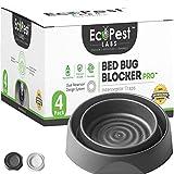 Bettwanzen Detektor - 4er Pack   Bettwanzenfalle Bed Bug Blocker (Pro)   Bettwanzen Test (schwarz)   Insektenfalle, Wanzen Monitor und Detektor für Bettbeine