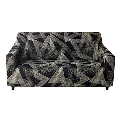 HALOUK Funda de Sofá 3 Plaza,Funda Elástica para Sofá Universal Spandex Protector de Muebles con Fondo Elástico para Decoración del Hogar-B-4 Plaza(235-300cm)