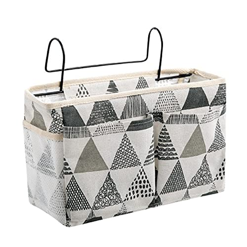 Organizador minimalista para colgar mesita de noche con bolsillo en capas, organizador de almacenamiento de gran capacidad para colgar