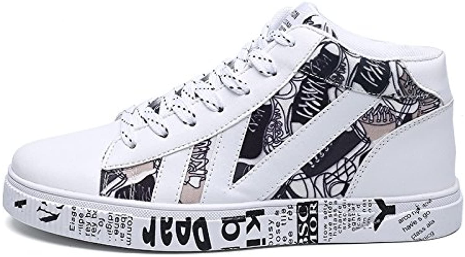Casual shoes, canvas shoes, fashion casual shoes high canvas shoes to help students,white,Forty-four
