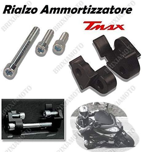 one by Camamoto Riser/Elevador/Amortiguador Compatible con (cod 77520680 Amortiguador Trasero con Montaje para Yamaha XP t-MAX 500 año 2001-2011)
