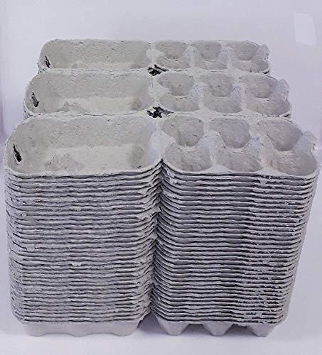 Boîte carton grise pour 6 œufs lot de 105 pièces
