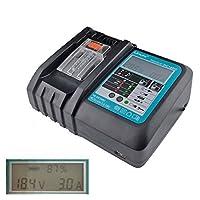 makita マキタ 充電器 液晶付き DC18RC 互換充電器 7.2V ~ 18V 対応 14.4V 18.0V バッテリー対応 BL1430 BL1450 BL1460 BL1830 BL1850 BL1860 などに 対応