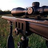 dgfweg Rifle saddle mount Rifle clamp Tripod mount adapter Precise tripod shooting rest (Saddle for rifle)