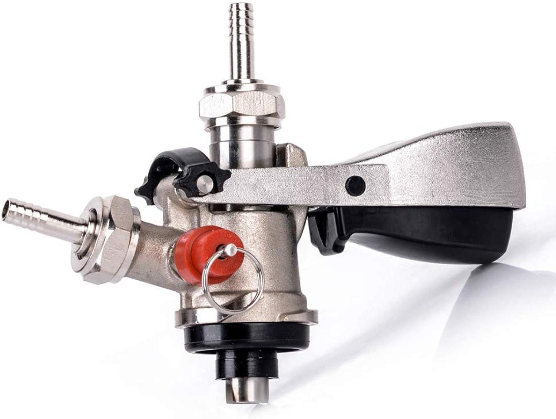 Stainless Steel S-Type Keg Homebrew Beer Keg Tap Coupler Draft Beer Dispenser for Wine Brew Bar Tools Beer Equipment