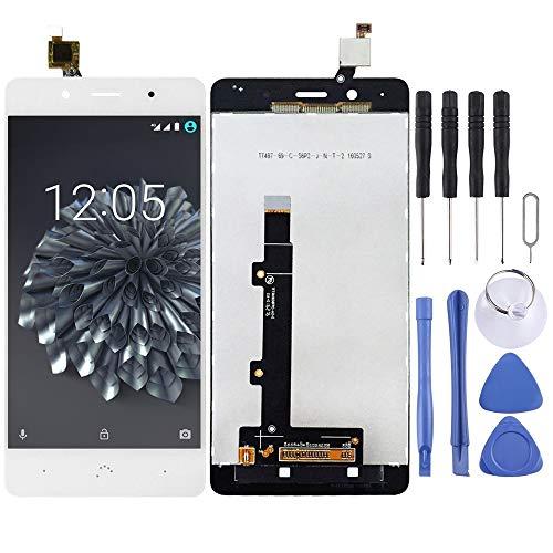 Dongdexiu Piezas de Repuesto del teléfono Celular Pantalla LCD y ensamblaje Completo del digitalizador for BQ Aquaris X5 Plus Accesorio de Repuesto de teléfono (Color : Blanco)
