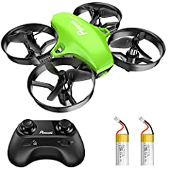 Easy to Play: With altitude hold, headless mode and one key take-off / landing, mini drone is easier to control and stabilize during flight. Having Fun for More Time: Drone for Kids and Beginners include 2 batteries. Flight time up to 10-13 minutes. ...