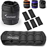 Sportneer Ankle Weights, 1 Pair 2 3 4 6 7 Lbs Adjustable Weights Wrist Weight Straps for...