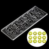 Chinese Zodiac Animal DIY Clear Tray Hard PC Chocolate Molds Candy Jelly Mould