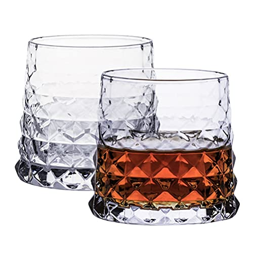 PQQ Copas de degustación de Whisky (Juego de 4) Copas de Vino de Cristal Copas de Licor para Beber Whisky Cócteles Vasos de Brandy para Regalos del día del Padre Bares de Fiesta Hogar