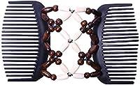 ヘアクリップコームガールズバンヘア用ヘアアクセサリー-バンメーカー-女性のための最高のヘアアクセサリー (ベージュ)