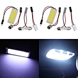TABEN 2 piezas super blanco ahorro de energía COB Chipset 15-SMD LED Panel de luz domo Au...