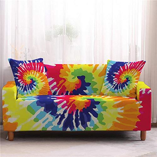 Alayth Funda Elástica De Sofá Funda Fundas De Sofá con Diseño De Teñido Anudado Colorido, Funda De Sofá Universal, Sillón Protector De Muebles, Sofás-3-Seater_Color2