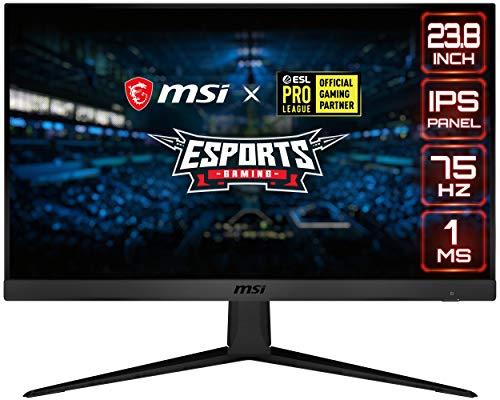 "MSI Optix G241V E2 Monitor Gaming 24"" Curvo, Display 16:9 Full HD (1920x1080), Frequenza 75Hz, Tempo di risposta 1ms, AMD Freesync, Pannello IPS, MSI Gaming OSD, VESA 100x100"