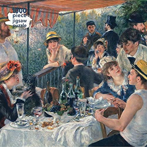 Adult Jigsaw Puzzle Pierre Auguste Renoir: Luncheon of the Boating Party: 1000-Piece Jigsaw Puzzles