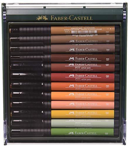 Faber-Castell 267422 Box PITT artist pen brush 12x terr