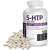 Bronson 5-HTP 200 mg HTPurity™ Griffonia Simplicifolia - Supports Positive Mood & Relaxation, 120 Vegetarian Capsules
