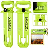 Picture Hanging Tool, Picture Frame Hanger Tool with Level Ruler Picture Hanger Wall Hanging Kit Measuring Tool Suitable for All Wall Materials (Green)