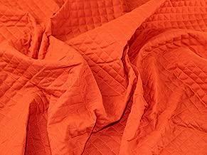 Minerva Crafts Pre Quilted Nylon & Wadding Dress Fabric Orange - per metre