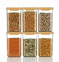 SunnShi Mart Big Size Air Tight Modular Kitchen Plastic Storage Containers Jars Canister Box Combo Set - 1100 ml Plastic...