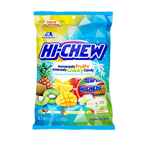 Hi-Chew Sensationally Chewy Japanese Fruit Candy, Tropical Mix, 3.53 Ounce ,Pack of 6
