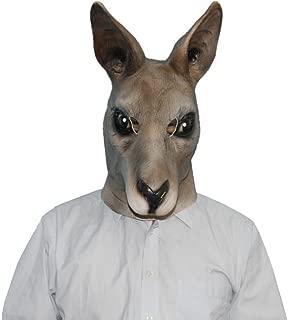 QTMY Latex Rubber Animal Kangaroo Mask for Halloween Party Costume (Kangaroo)