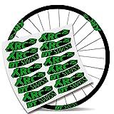 Kit Pegatinas Bicicleta Stickers LLANTA DT Swiss XRC 25 1200 29' MTB BTT B (Verde Asturias)