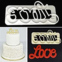 1PC DIY Love Happy Birthday Letter Fondant Cake Cookie Decorating Icing Cutter Mold Cake Tool Embosser Fondant Baking Tool : 01