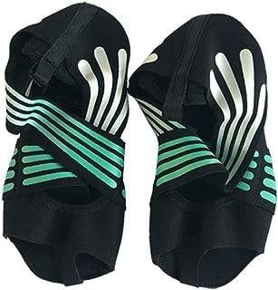 SODIAL Fashion Women's Non-Slip Fitness Dance Pilates Socks Professional Indoor Yoga Shoes Black 35/36