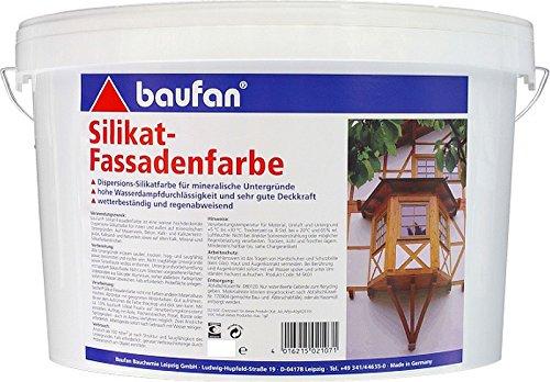 Baufan Silikatfassadenfarbe 10 Liter weiss innen und aussen