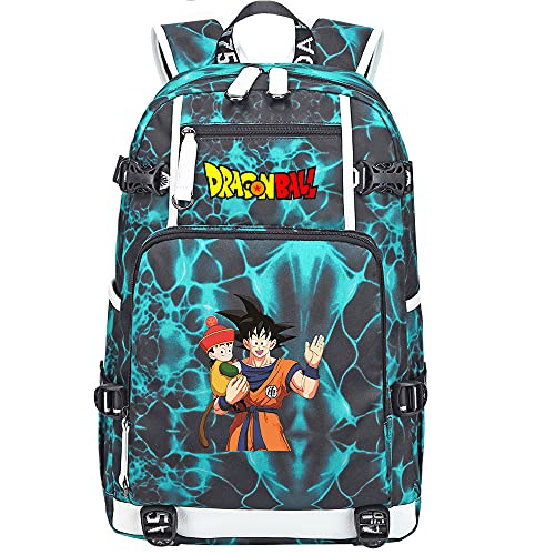 ZZGOO-LL Dragon Ball Super Son Goku/Vegeta IV/Torankusu Shoulder Bag Outdoor Backpack for Plenty of Storage Bag USB Unisex-H