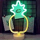 LED- Ananas Neonlicht Zeichen Neon Schilder Lampen Blitz Neon Lights warmes Weiß Dekor-Blitz Neonlichter Batterie/USB Powered Nachtlicht für Weihnachten Kinderzimmer Wohnzimmer Hochzeit Dekor