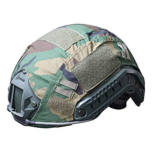 H mundo de compras al aire libre Airsoft Paintball táctico militar Gear combate rápido casco camuflaje del ejército cubierta WLD