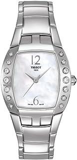 ساعة تيسوت T053.310.61.112.00 للنساء كوارتز ، عرض انالوج بعقارب و حزام من الفولاذ المقاوم للصدأ، أم اللؤلؤ