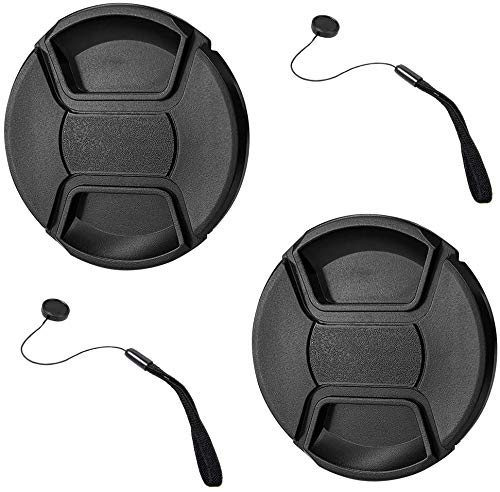 GAOAG 2 Pack 95mm Center Pinch Lens Cap for Nikon Canon Sony DSLR Compatible with Tamron SP 150-600mm Nikon AF-S Nikkor 200-500mm and Other Brand of Lenses with 95mm Filter Thread