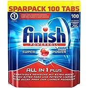 Finish All in 1 Plus Spülmaschinentabs, Sparpack, 1er Pack (1 x 100 Tabs)