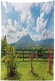 BONRI l volcán, Vista l volcán Arenal s el Punto observación Vista panorámica Costa Rica, coración para Colgar en la Pared Tela para Sala Estar,